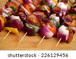 homemade chicken skewers kebabs ...
