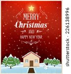 christmas greeting card design  ... | Shutterstock .eps vector #226138996