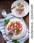 strawberry cake | Shutterstock . vector #226142185