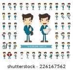 set of businessman character  ... | Shutterstock .eps vector #226167562