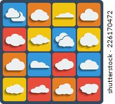 cloud shapes vector set  cloud...