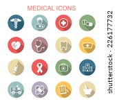 medical long shadow icons  flat ... | Shutterstock .eps vector #226177732