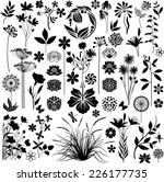 plants and flowers set   Shutterstock .eps vector #226177735