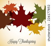 maple leaf thanksgiving card in ... | Shutterstock .eps vector #226177852