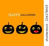 happy halloween design... | Shutterstock .eps vector #226178425