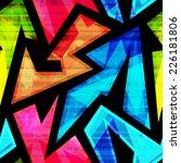 neon geometric seamless pattern ... | Shutterstock . vector #226181806