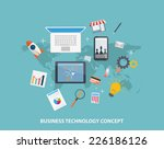 business strategy concepts  | Shutterstock .eps vector #226186126