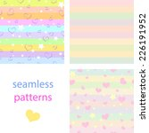 the  set of seamless patterns... | Shutterstock .eps vector #226191952