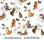 Seamless Cats   Butterflies....