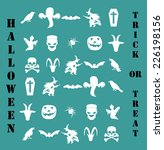 halloween icon set | Shutterstock .eps vector #226198156