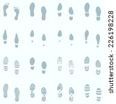 vector set of 16 shoes... | Shutterstock .eps vector #226198228