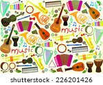 classical musical instruments... | Shutterstock .eps vector #226201426