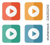play button web icon   flat... | Shutterstock .eps vector #226202242