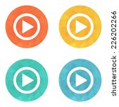 play button web icon   flat... | Shutterstock .eps vector #226202266