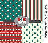 set of holiday geometric... | Shutterstock .eps vector #226208596