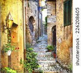 charming old streets of... | Shutterstock . vector #226208605