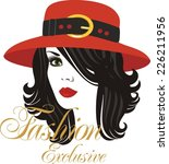 lady in hat | Shutterstock .eps vector #226211956