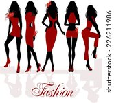 fashion girls | Shutterstock .eps vector #226211986