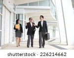 asian busines team outdoor... | Shutterstock . vector #226214662