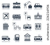city infrastructure icons black ... | Shutterstock .eps vector #226216936