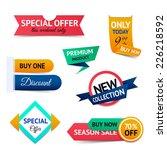 discount premium product... | Shutterstock .eps vector #226218592