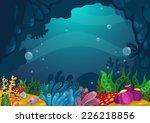 illustration of under the sea...   Shutterstock .eps vector #226218856