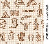 wild west cowboy seamless... | Shutterstock .eps vector #226219036