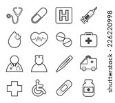 medical  icons | Shutterstock .eps vector #226220998