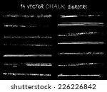 chalk grunge distress border... | Shutterstock .eps vector #226226842