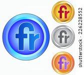 fr sign icon | Shutterstock .eps vector #226228552