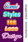 logo styles. use ai's graphic... | Shutterstock .eps vector #226228942
