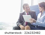 businessman and businesswoman... | Shutterstock . vector #226232482