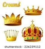 set 3 of royal gold crowns...
