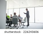 businessman giving presentation ... | Shutterstock . vector #226243606