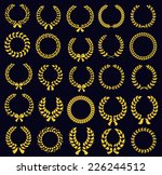 set of silhouette circular... | Shutterstock .eps vector #226244512