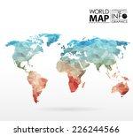 world map background in... | Shutterstock .eps vector #226244566