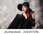 style redhead girl with... | Shutterstock . vector #226247296
