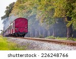Back Of A Steam Train With A...