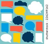 set of speech bubbles.... | Shutterstock .eps vector #226249162