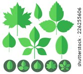 leaf. icon set. vector...   Shutterstock .eps vector #226255606