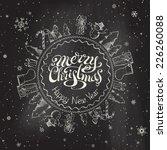christmas chalkboard background.... | Shutterstock .eps vector #226260088