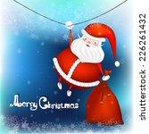 vector illustration of santa... | Shutterstock .eps vector #226261432