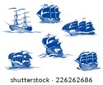 blue tall ships or sailing... | Shutterstock .eps vector #226262686