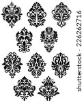 decorative vector black and... | Shutterstock .eps vector #226262716