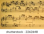 vintage musical score   aged... | Shutterstock . vector #2262648