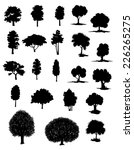 silhouettes of assorted trees... | Shutterstock .eps vector #226265275