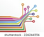 bands with different colors and ...   Shutterstock . vector #226266556