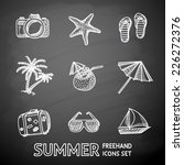 summer holidays monochrome... | Shutterstock .eps vector #226272376