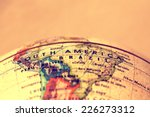 south america  on atlas world... | Shutterstock . vector #226273312