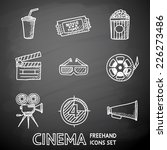 cinema  movie  painted on black ... | Shutterstock .eps vector #226273486